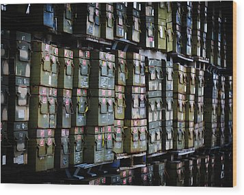 Wall Of Containment Wood Print