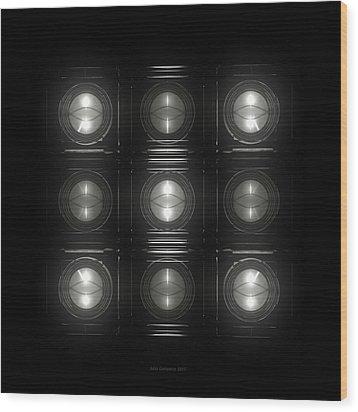 Wall Of Roundels 3x3 Wood Print