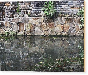 Wall Reflection Wood Print by Kathy Daxon