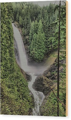 Wood Print featuring the photograph Wallace Falls by Jeff Swan