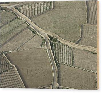 Walled Fields Near Bagram Wood Print by Tim Grams