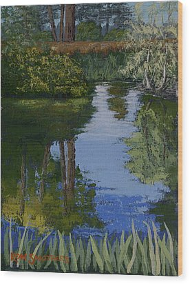 Waller Park Pond Wood Print by Ron Smothers