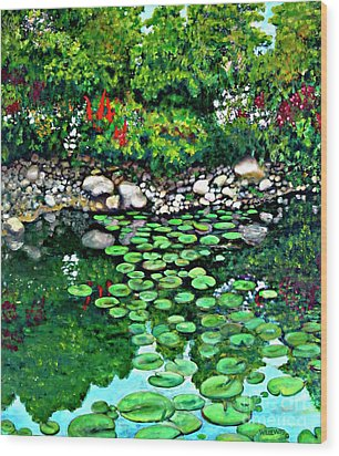 Wallingford Pond Wood Print by Will Lewis