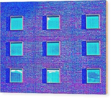 Walls Of Windows Wood Print by Gillis Cone