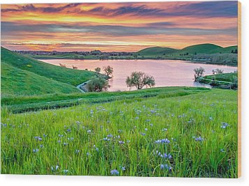 Wood Print featuring the photograph Wally Baskets Above Contra Loma  by Marc Crumpler