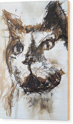 Walnut And Charcoal Wood Print