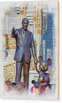 Wood Print featuring the photograph Walt And Mickey by Mark Andrew Thomas