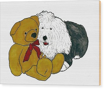 Walt And Ted Wood Print