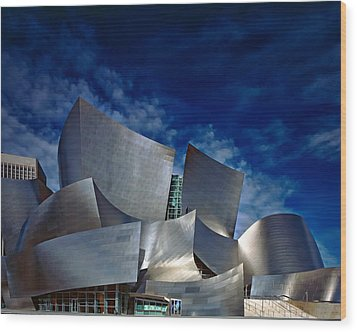Walt Disney Concert Hall Wood Print