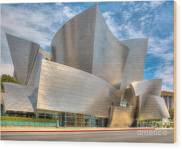 Walt Disney Concert Hall - Los Angeles Wood Print by Jim Carrell