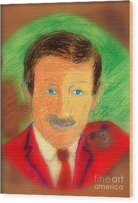Walt Disney It's In The Ears Wood Print by Richard W Linford