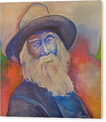 Walt Whitman Wood Print by Robert Lacy
