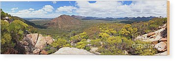 Wangara Hill Flinders Ranges South Australia Wood Print by Bill Robinson