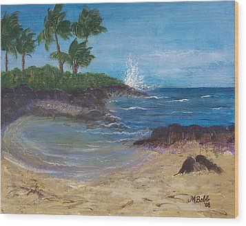 Wood Print featuring the painting Wanna Go by Margaret Bobb