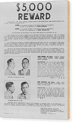 Wanted Poster, 1937 Wood Print by Granger