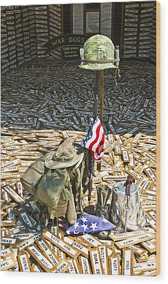 War Dogs Sacrifice Wood Print