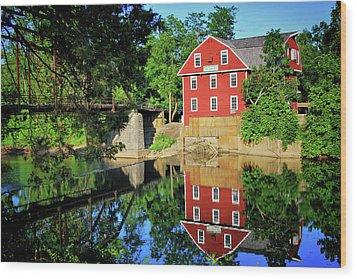War Eagle Mill And Bridge - Arkansas Wood Print