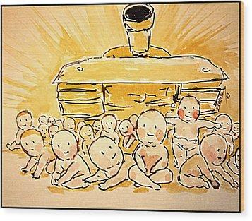 War Innocence Wood Print by Paulo Zerbato