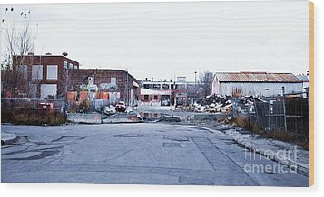 War Zone 3 Montreal Wood Print by Reb Frost