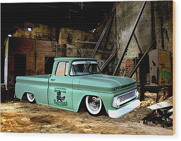 Wood Print featuring the photograph Warehouse Pickup by Steven Agius