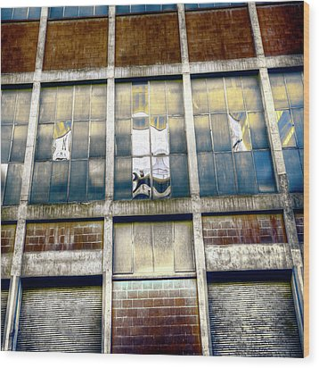 Warehouse Wall Wood Print by Wayne Sherriff