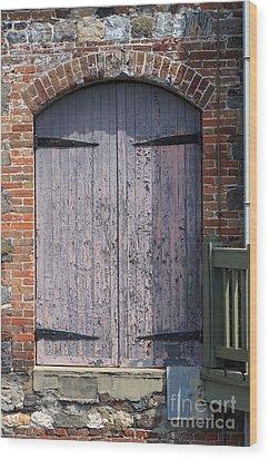 Warehouse Wooden Door Wood Print by Thomas Marchessault