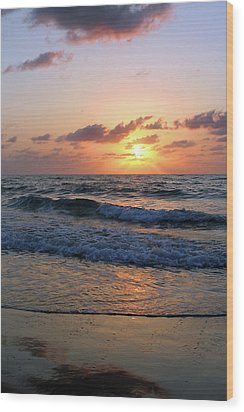 Warm Atlantic Sunrise Wood Print