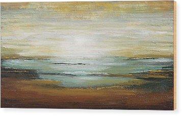 Warm Ocean Wood Print