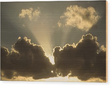 Warm Sky Wood Print by Gerard Fritz
