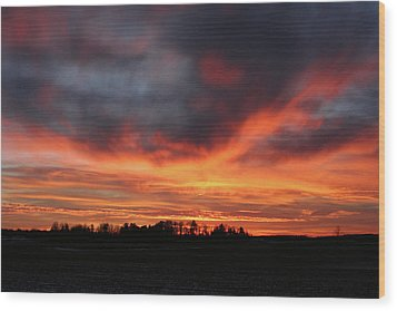 Warm Sunset Glow Wood Print
