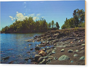 Warmth Of Sugarloaf Cove Wood Print by Bill Tiepelman