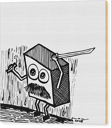 Warrior Box Wood Print by Karl Addison