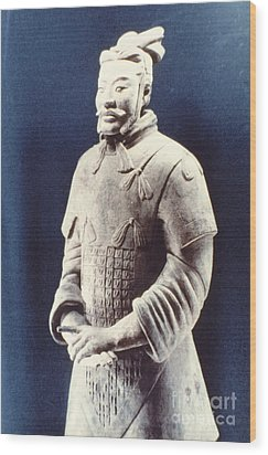 Wood Print featuring the photograph Warrior Of The Terracotta Army by Heiko Koehrer-Wagner