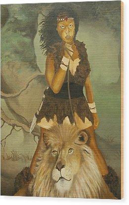 Warrior Princess Wood Print