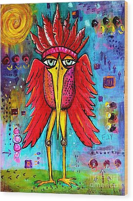 Wood Print featuring the painting Warrior Spirit by Vickie Scarlett-Fisher