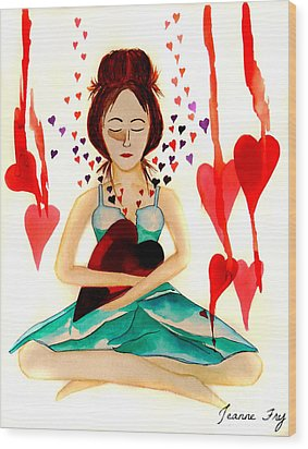 Warrior Woman - Tend To Your Heart Wood Print
