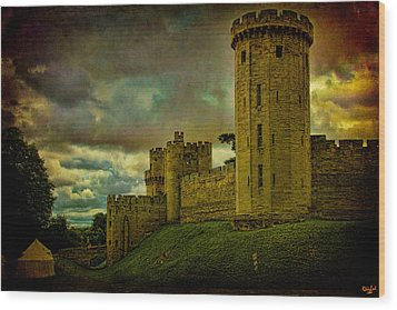 Warwick Castle Wood Print by Chris Lord