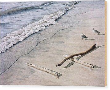 Wasaga Beach Surf Wood Print by Conrad Mieschke