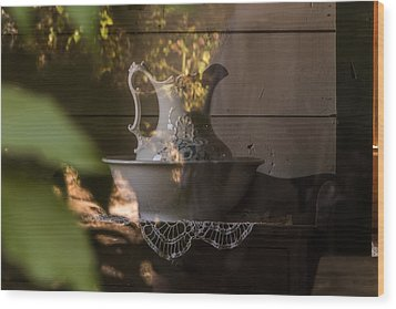 Wash Basin Wood Print