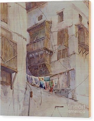 Washday Jeddah Wood Print by Dorothy Boyer