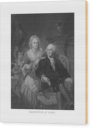 Washington At Home Wood Print by War Is Hell Store