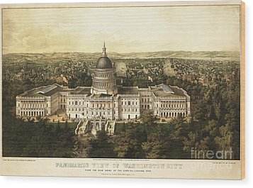 Washington City 1857 Wood Print by Jon Neidert