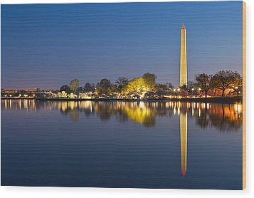 Washington Dc Dawn Monument Wood Print