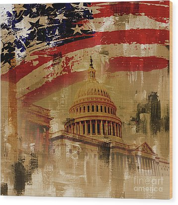 Washington Dc Wood Print