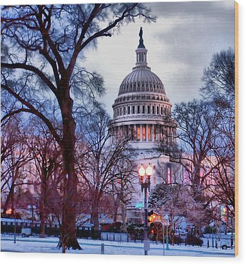 Washington D.c. One Wood Print by Jimmy Ostgard