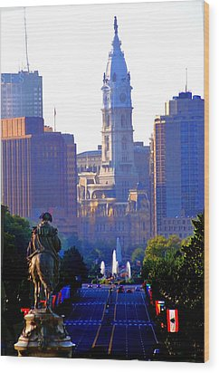 Washington Looking Over To City Hall Wood Print by Bill Cannon