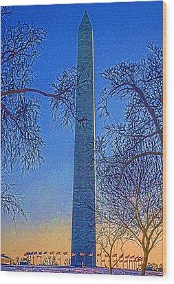 Washington Monument Wood Print by Dennis Cox WorldViews