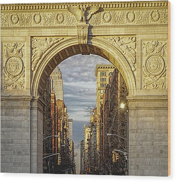 Washington Square Golden Arch Wood Print