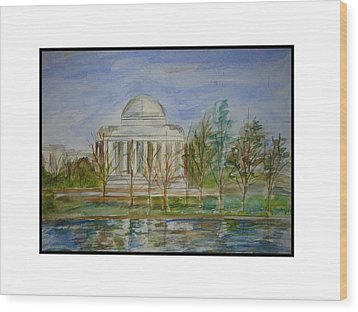 Washington View Wood Print by Angela Puglisi