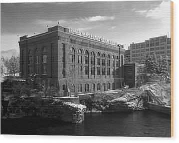 Washington Water Power Post Street Station - Spokane Washington Wood Print by Daniel Hagerman